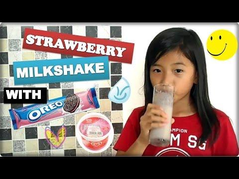 Strawberry Milkshake with Oreo