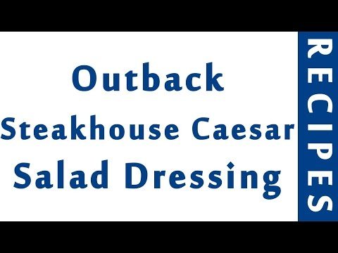 Outback Steakhouse¨ Caesar Salad Dressing | EASY TO LEARN | QUICK RECIPES