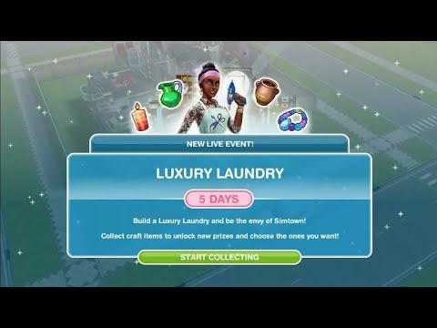 Simsfreeplay - Luxury Laundry Live Event