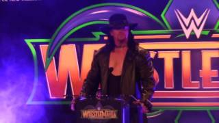 The Undertaker at WrestleMania Announcement - Tuesday, Jan. 10