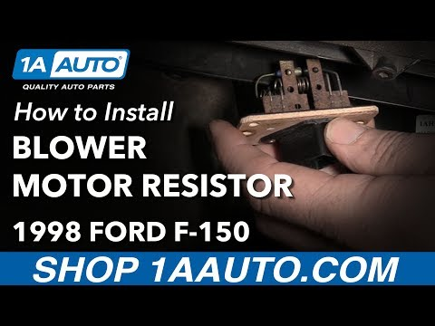 How to Install Replace Blower Motor Resistor 1997-03 Ford F-150