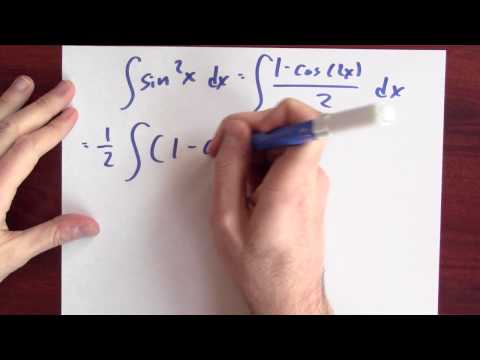 What is the antiderivative of sine squared? - Week 10 - Lecture 12 - Mooculus