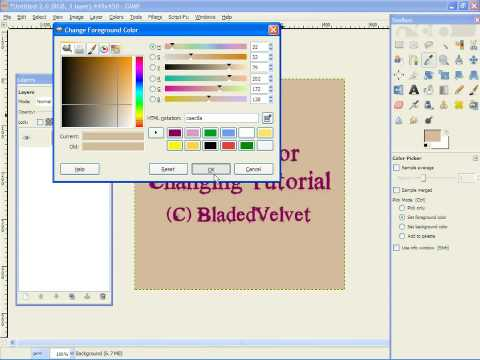 Changing Background Color in GIMP