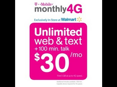 T-Mobile $30 Plan 100 Min Unlimited Text 5GB 4G LTE How To Activate