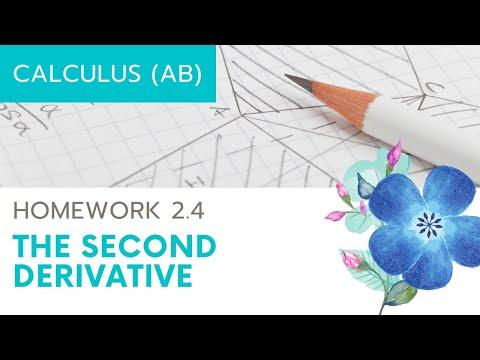 Calculus AB Homework 2.4 The Second Derivative
