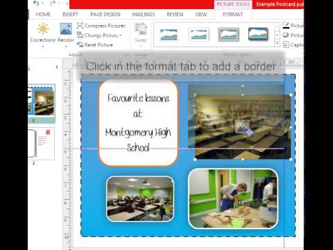 Add a border to a photo in Publisher 2013