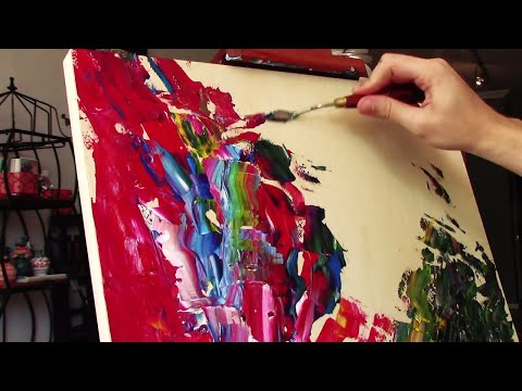 Palette Knife Doodle Painting (Abstract) (Anyone can do it!) (Words in parenthesis!)