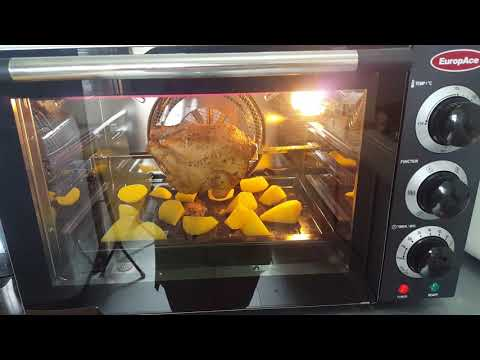 Homemade Rotisserie Chicken & Potatoes with Europace Convection Oven EEO308C