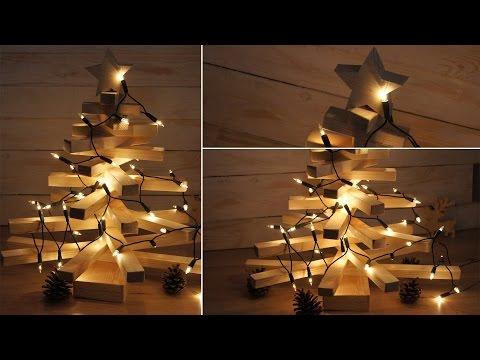How make a wooden Christmas tree / Jak wykonać drewnianą choinkę