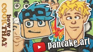 PANCAKE ART! Top YouTubers DanTDM, Logan, jake paul (ft draw with jazza)