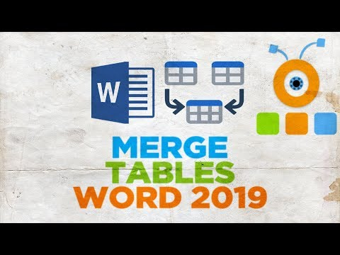How to Merge Tables in Word 2019