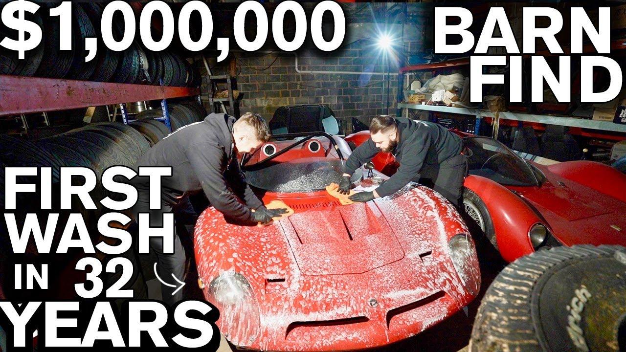 $1,000,000 Barn Find: First Wash in 32 Years! Bizzarrini P538