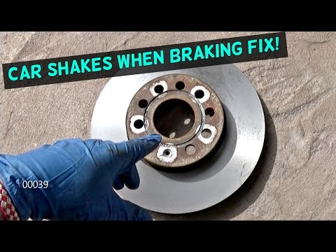 CAR SHAKES WHEN BRAKING. FIX! STEERING WHEEL SHAKES