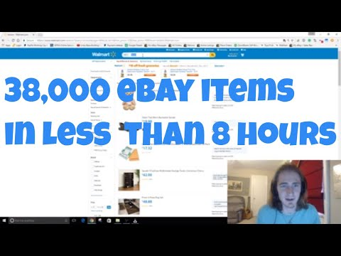 Creating a 38,000 item eBay drop shipping store in less than 8 hours sourced from walmart