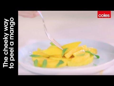The cheeky way to peel a mango