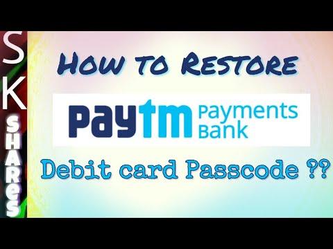 How to restore Forgotten PayTM Digital Debit card Passcode