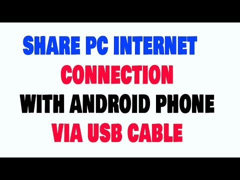 How Share PC Internet Connection With Android Phone Via USB Cable Hindi/Urdu
