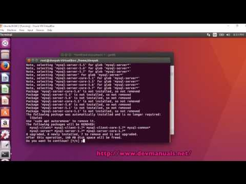 Removing MySQL server and client completely from Ubuntu 16.04.