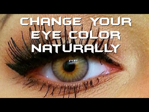 Change your eye color to hazel green naturally - 2 tips
