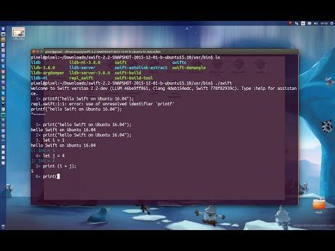 Swift on Ubuntu 16.04 Linux