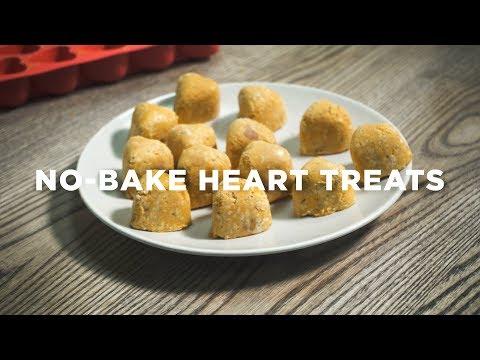 No-Bake Heart Treats for Dogs