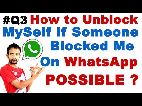 [#Q3] How to Unblock Myself if Someone Blocked me on WhatsApp (Whatsapp Unblock Possible?)