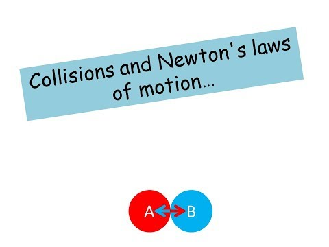 Collisions and Newton's Laws - AS level Physics