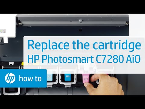 Replacing a Cartridge - HP Photosmart C7280 All-in-One Printer