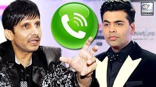 Kamaal R Khan PHONE CALL Leaked | Karan Johar Exposed | LehrenTV