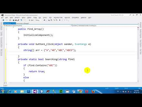 Search for an element in array with Array Find method in C# NET 2012
