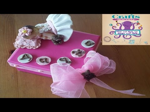 Stop Motion Polymer clay baby with box Tutorial how to make clay baby with polymer DIY juguetes