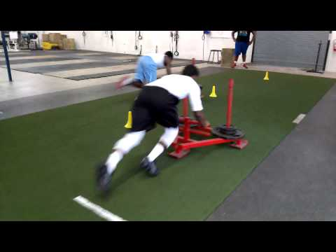 Sled Pushes - 10.13.12 - Future College Football Players train for the 2014 season