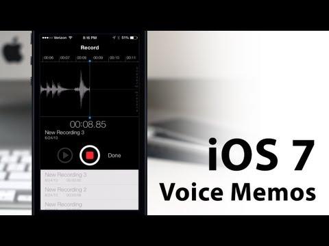 Hands-On iOS 7 Voice Memos App - New Design/Layout