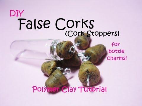 DIY False Corks for Bottle Charms ✧ Tappi per Bottigliette in Finto Sughero ~ Polymer Clay Tutorial