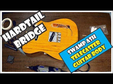 Installing a hardtail bridge in a swamp ash Telecaster guitar body  [6/11]