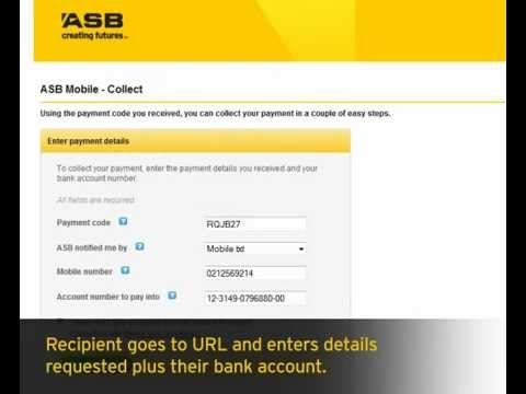 Collecting Payments - ASB Mobile Banking