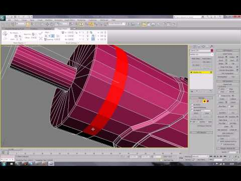 The Minigun Tutorial for 3ds Max - 003 detail on the barrel