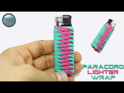 How to make Paracord Lighter Holder Fast and Easy - Paracord Lighter Wrap 2 colors DIY