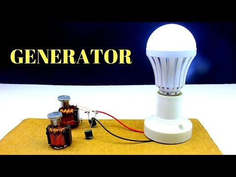 Magnet - Free Energy Generator Light For Lifetime - Using Magnets And Copper Wire
