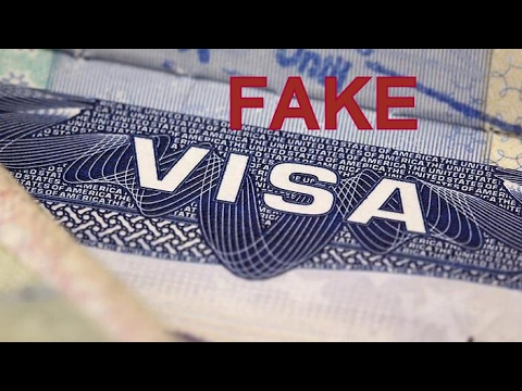 Passenger arrested for traveling on fake visa