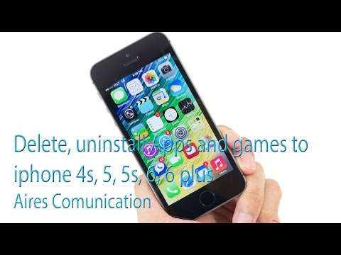 Delete, uninstall Apps and games to iphone 4s, 5, 5s, 6, 6 plus