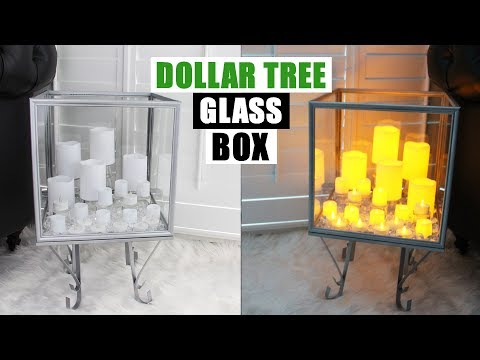 DIY DOLLAR TREE GLASS DISPLAY BOX DIY Home Decor Idea