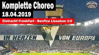 Krasse UEFA-CUP Choreo | Eintracht Frankfurt vs Benfica Lissabon 2:0 | Komplette Choreo | HD