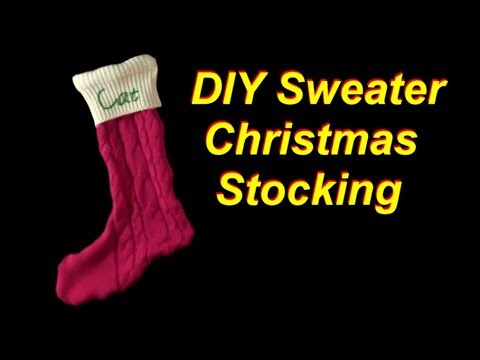 DIY Christmas Stocking made from Upcycled Sweaters