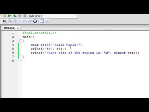 C Programming Tutorial - 61: Introduction to Strings