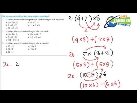 Matematika SD/MI Kelas 4 - Latihan Soal Komutatif Asosiatif & Distributif