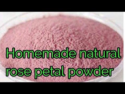 Homemade natural rose petal powder DIY natural blush  DIY Rose powder