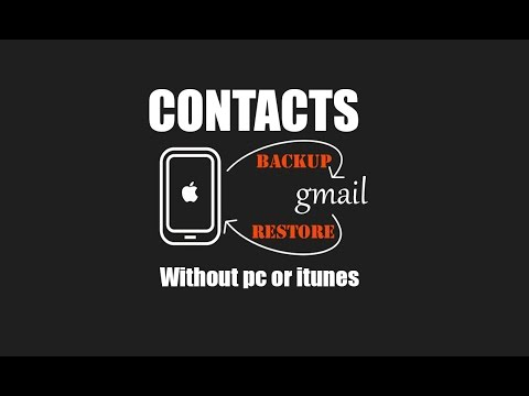 Backup iphone Contacts Easily to gmail account