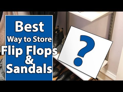 Best Way to Store Flip Flops & Sandals
