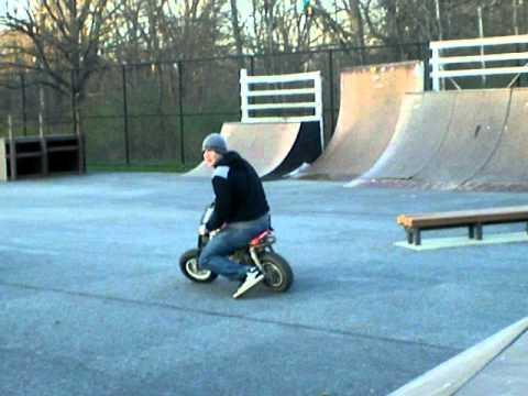 Dirt bike at Skatepark